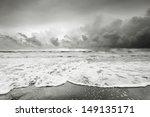 Cloudy Beach Before Raining In...