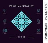 geometric arabic pattern. logo. ...   Shutterstock .eps vector #1491374171