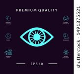 eye symbol icon. graphic... | Shutterstock .eps vector #1491375521