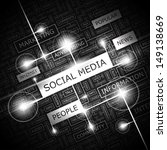 social media. background... | Shutterstock .eps vector #149138669