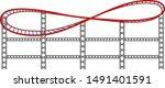 roller coaster track on white... | Shutterstock .eps vector #1491401591