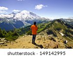 Mt Rainier From Dege Peak At...