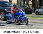 Motor Bike   Man Ride Blue...