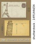 postcards. france. paris.... | Shutterstock .eps vector #149144654