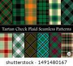 set tartan plaid scottish... | Shutterstock .eps vector #1491480167