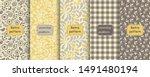 set of retro seamless patterns...   Shutterstock .eps vector #1491480194