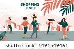 shopping center horizontal... | Shutterstock .eps vector #1491549461