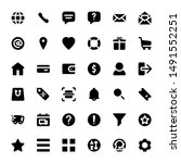 set of e commerce icons for...