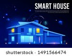 smart house web banner. home... | Shutterstock .eps vector #1491566474
