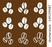 vector collection  coffee beans | Shutterstock .eps vector #149159087