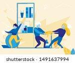 kids siblings fighting over toy ...   Shutterstock .eps vector #1491637994