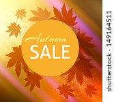 autumn sale design background | Shutterstock .eps vector #149164511