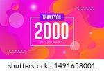 thank you 2000 followers vector....   Shutterstock .eps vector #1491658001