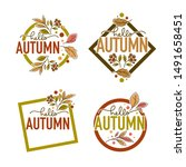 hello autumn  label  sticker ... | Shutterstock .eps vector #1491658451