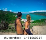 Young Couple Selfie At A...