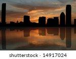boston skyline reflected at... | Shutterstock . vector #14917024