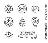 Renewable Energy Line Icon Log...