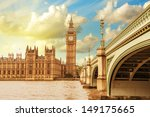 Landscape Of Big Ben And Palac...