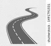 highways and bending roads...   Shutterstock .eps vector #1491791531