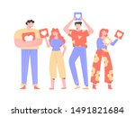 group of people  men and women  ...   Shutterstock .eps vector #1491821684