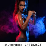 determined fit sexy woman... | Shutterstock . vector #149182625
