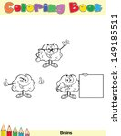 coloring book page brain... | Shutterstock . vector #149185511