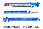 vector video headline title or... | Shutterstock .eps vector #1491858137