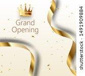 grand opening sparkling banner. ... | Shutterstock .eps vector #1491909884