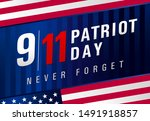 patriot day usa never forget 9... | Shutterstock .eps vector #1491918857