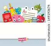 back to school   background... | Shutterstock .eps vector #149193674