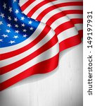 american flag on grey wood... | Shutterstock .eps vector #149197931