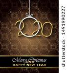2020 merry christmas background ...   Shutterstock .eps vector #1491990227
