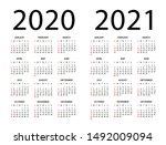 calendar 2020 2021 year  ... | Shutterstock .eps vector #1492009094