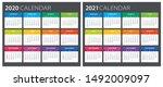 2020 2021 calendar  ... | Shutterstock .eps vector #1492009097