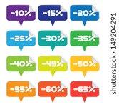 colorful set of sale labels | Shutterstock .eps vector #149204291