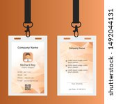 creative id card template with... | Shutterstock .eps vector #1492044131