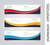 vector abstract banner design... | Shutterstock .eps vector #1492072331