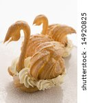 Two Choux Swans Filled With...