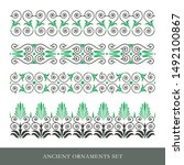 set of decorative ancient greek ... | Shutterstock .eps vector #1492100867