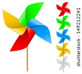 Raster Version. Toy Windmill...