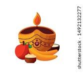 candle design  onam festival... | Shutterstock .eps vector #1492132277