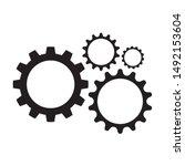gear logo template vector icon... | Shutterstock .eps vector #1492153604