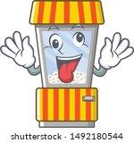 crazy popcorn vending machine... | Shutterstock .eps vector #1492180544