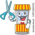 barber popcorn vending machine... | Shutterstock .eps vector #1492182431