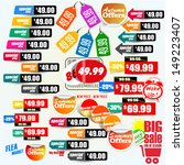 set of colorful price tags | Shutterstock .eps vector #149223407