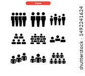 population icon isolated sign...   Shutterstock .eps vector #1492241624