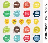 set of vector badges and labels.... | Shutterstock .eps vector #1492264877