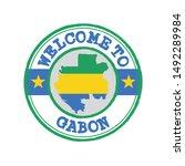 vector stamp of welcome to... | Shutterstock .eps vector #1492289984
