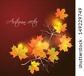 autumn background. vector... | Shutterstock .eps vector #149229749