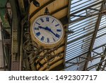 Clock At A Traditional Train...